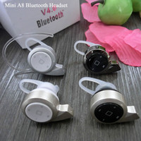 Universal   MINI A8 Wireless Bluetooth Stereo Earphone V4.0 Edition Universal Headset Music and Phone Call Headphone with Retail Package
