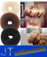 Wholesale Hair Volumizing Scrunchie Donut Ring Style Bun Scrunchy Sock Poof Bump It Snooki MYY1726