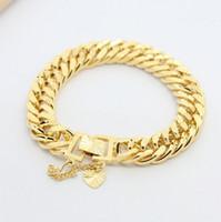 Wholesale 24K gold plated imitation gold bracelet men Men Jewelry Cuban Link Bracelet For Women Men K Yellow Gold Filled Bracelet Chain