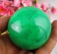 healing crystals - 65MM Glow In The Dark Natural Green Fluorite Magic Crystal Healing Ball Stand