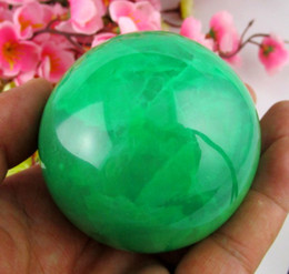 Wholesale 65MM Glow In The Dark Natural Green Fluorite Magic Crystal Healing Ball Stand
