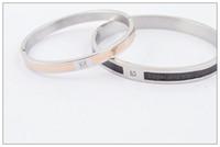 2014 hot sale black and gold bracelet, titanium steel bracel...