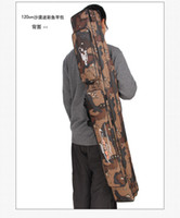 Wholesale High quality Large capacity Camouflage double layer Brand Rod Fishing Tackle m Fishing Bags
