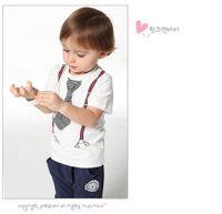 Boy Spring / Autumn Short Wholesale New Arrival Summer Children Clothing Set Fashion Tie Tshirt Harem Pants Boy Casual Tracksuit Kids Suit Baby Sets QZ529 10 New Ar