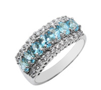 Wholesale Size7 Fashion Jewelry Deluxe Womens KT White Gold Filled Topaz Gemstones Ring for love gift