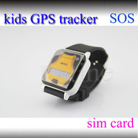 Support sim card GSM gps kids tracker watch - Child GPS Watch GPS GSM GPRS Tracker Watch Double Locate Remote Monitor SOS Smart Watch For child kid the old GPS Tracker mini factory price