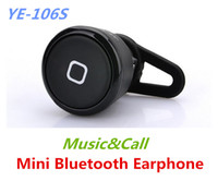 Universal Bluetooth Headset EP88814 New Arrival Super mini Stereo Bluetooth headset YE-106S Wireless earphone Music&Call for iPhone Samsung HTC LG Free Shipping