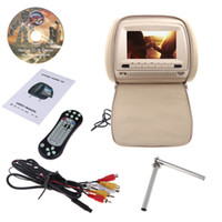 Wholesale 7 quot X480 LCD Car DVD Headrest Monitor Player Analog TV Bits Games IR Infrade FM Transmitter MP3 USB SD Remote Control K1225