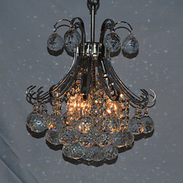 3 Lights LED Modern Crystal Chandelier Pendant Light Lamp in Crystal Ball Feature Free Shipping