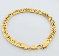 Wholesale Men Jewelry Cuban Link Bracelet For Women Men18K Yellow Gold Filled Bracelet Chain men bracelet gold bracelet gold gilded gold bracelet