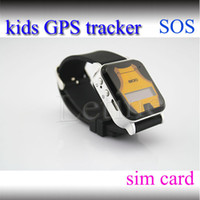 Wholesale GPS GSM Wrist Watch Phone Double Locate Remote Monitor SOS For child kid GPS Tracker mini Quad band SOS emergency call LBS SMS location