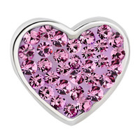 Wholesale 925 silver Mom Amethyst Purple Crystal Heart Rhinestone Beads Charms Bracelets fit European chain Bracelet CP0070