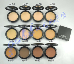Wholesale HOT Makeup Face Powder Studio Fix Powder Plus Foundation press powder puffs g GIFT