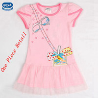 TuTu Summer A-Line Retail Girl Pink Summer Short Sleeves Party Dress China Style Dress cheongsam style With Bow Embroidered Sample Tutu Skirt For Girl (H5012)
