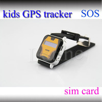 Wholesale GPS GSM Wrist Watch Phone Double Locate Remote Monitor SOS For child kid GPS Tracker mini Quad band SIM card slot Smart Watch AAAA quality
