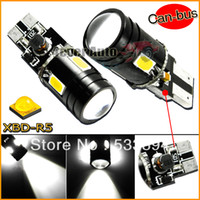Wholesale 2pcs White Error Free Canbus T10 W5W High Power W SMD CREE LED with Lens Bulbs for Backup Parking Lights etc