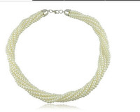 South American twisted pearl necklace - New Jewelry Twist Pearl Necklaces Fashion Pearl Jewelry colors per