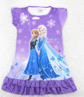 New 2014 Frozen Dress Elsa & Anna Summer Dress For Girl ...
