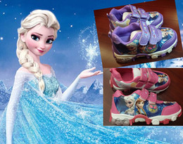 9%off!IN STOCK!Fashion!Spring new frozen elsa anna sneakers! sizes 28-33, children casual shoes!DROP SHIPPING!high quality!1pairs 2pcs.MC