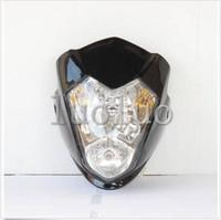 achat en gros de phare moto rue universel combattant-Streetfighter Phare Raider Noir Street Fighter Bike Racing avant de moto