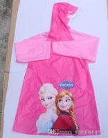 Wholesale pc Frozen Raincoat Frozen Princess Elsa Anna Children girls Raincoat Frozen Series O Z96
