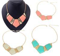 Wholesale 30 off Womens Big Acrylic Gemstone Necklaces Resin Statement False Collar Necklace Jewelry Fashion JN06150