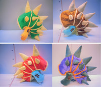 Wholesale The Armordillo Colors LOL Game League Of Legends Rammus Hat Teemo Cosplay Cap Cute Keep Warn Hats Green Red Purple Hat