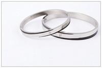 2014 hot sale silver Diamond bracelet with letter , titanium...