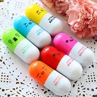Pill Shape Retractable Ball Point Pen Rollerball Pens Creati...