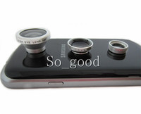 Wholesale Magnetic in Wide Lens Macro Lens Fish Eye Lens For iPhone s s c samsung for all mobile phones Digital Camera free ship