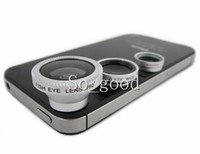 Wholesale Magnetic in Wide Lens Macro Lens Fish Eye Lens For iPhone s s c samsung for all mobile phones Digital Camera