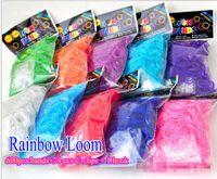 Unisex rainbow loom - DHL free Rainbow Loom Kit DIY Wrist Bands rubber band Rainbow Loom Bracelet for kids bands C clips hook