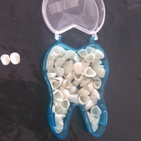 Wholesale Dental Temporary Crowns for Anterior Front Teeth pieces box Polycarbonate Cap Veneer Crown Acrylic Denture