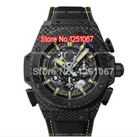 Sport Men's Auto Date Lowest Price Factory Seller Luxury King Power F1 Black PVD DLC Mens Watch Rubber Strap Men's Movement Wrist Watches