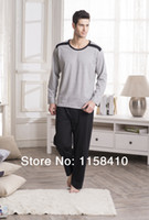 Wholesale Brand New Spring Men s Pajamas sets Fashion Long Sleeve Men Home Wear Cotton Men s Pajamas for Autumn lounge set