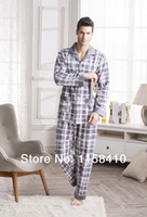 Wholesale Fashion Men s Pajamas Spring Pyjamas for Men Cotton Men s nightgowns Pajamas sets For Autumn