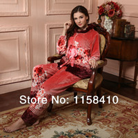 Wholesale Hot Sale Luxury Floral Pajamas Winter Women pajamas Set Women Night suits Women s Nightgowns