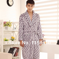 Wholesale Autumn amp Winter Bathrobe Mens Thicken Flannel Pajamas For Men s Robes Kimono Men Fashion Men s Home wear