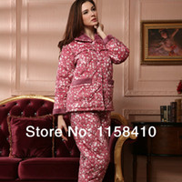 Wholesale High Quality Women Pajama Floral Women Cotton Pajamas Winter Sleepwear for Ladies