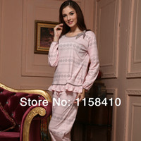 Wholesale 2014 Hot Selling Spring Pajamas for Women Cotton Pajama Women Nightgowns Long sleeve sleepwear
