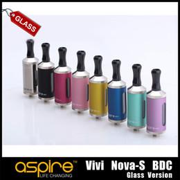 New Arrival Original Vivi Nova S Glassomizer Aspire Vivi Nova-S Bottom Dual Coil Glassomizer Clearomizer Atomizer