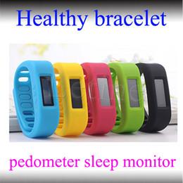 Wholesale Smart Watch Fit Bit Model Bluetooth Healthy Bracelet Pedometer Calorie Burnning Sleeping Moniter Stopwatch Long Standby Wristband