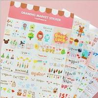 Copier Paper kawaii stickers - 30 sheets DIY Cute Kawaii Cartoon Korean Girl Sticker for Scrapbook Decoration Diary