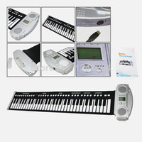 Wholesale musical keyboard Roll Up Portable Electronic Piano Keyboard key silicone keyboard for kids