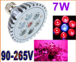 Promotion led grow bleu ampoule E27 Lampe à LED Ampoule à LED 7W RedBlue Lampe à plantes à LED Hydroponic Grow Ampoules pour jardin sans serre Livraison gratuite