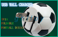 Wholesale Soccer Ball World Cup USB Wall Charger V A Football Brazil World Cup Home Travel Charging Power Adapter