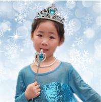 Wholesale children girl s frozen tiara dress Elsa Anna princess crowns hearts diamond tiara baby party hair accessories pageant hairbands gift