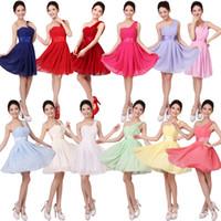 Wholesale 2014 New Cheap Lavender Bridesmaid Dress Yellow Chiffon Lace Wedding Prom Dresses Colors Corset XS XXXL Plus Size Homecoming Dress YCF003