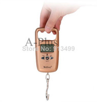 Wholesale 3pcs New Double Precision kg g kg g Digital Hanging Scale Portable Electronic Luggage Scale Champagne SV000063