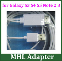 Wholesale 2pcs Micro USB MHL to HDMI Cable HDTV for Samsung Galaxy S3 i9300 S4 i9500 S5 i9600 Note N7100 MHL Adapter Cable M FT